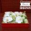 กล่องดอกไม้ วันเกิด ขาวแดง(M) thumbnail 2