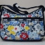 Lesportsac Classic Hobo Ocean Bloom Navy กระเป๋าสะพายขนาดกำลังเหมาะ ขนาด 9 x 12 x 5.25 นิ้ว thumbnail 3