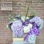กล่องดอกไม้วันเกิด โทนสีม่วงพาสเทล (L) thumbnail 1