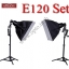 E120 Set 120Wx2 Professional Flash Nice Studio Kit thumbnail 1