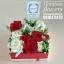 กล่องดอกไม้ กุหลาบ แดงขาว (M) thumbnail 4