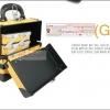 กระเป๋าเครื่องสำอางดีไซน์เมคอัพอาร์ทติสท์ สไตล์เกาหลี สี Yellow Gold Size S Made in Korea (Pre-order)