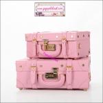 กระเป๋าสะพายวินเทจสไตล์เกาหลี เบบี้พิงค์ ไซส์ 12 หรือ 14 นิ้ว Baby pink Vintage Korea Style (Pre-order ราคาสินค้าแต่ละไซส์อยู่ด้านในค่ะ)