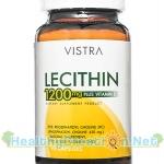 Vistra Lecithin 1200 mg. Plus Vitamin E บรรจุ 90 แคปซูล เหมาะสำหรับผู้ที่ต้องการพัฒนาสมองและความจำ