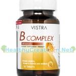 Vistra B Complex Plus Minerals วิสทร้า วิตามินบี รวม บรรจุ 30 เม็ด จำเป็นต่อการสร้างสารสื่อประสาท ช่วยบำรุงสมองและระบบประสาทให้ทำงานเป็นปกติ
