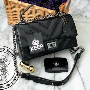 KEEP shoulder coco chain handbag
