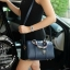 KEEP ( Sheep Leather Pillow Bag - Black ) thumbnail 5
