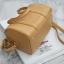KEEP ( Sheep Leather Pillow Bag - Light.Brown ) thumbnail 4